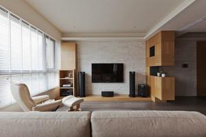 宜家风格两居室室内客厅电视背景墙装修效果图
