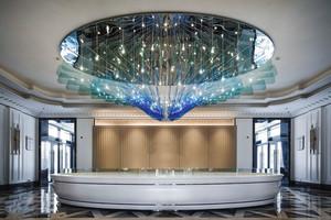 400平米简欧风格豪华酒店大堂设计装修效果图