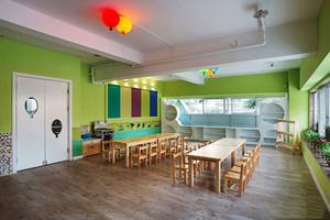 80平米现代简约风格幼儿园教室布置装修效果图赏析