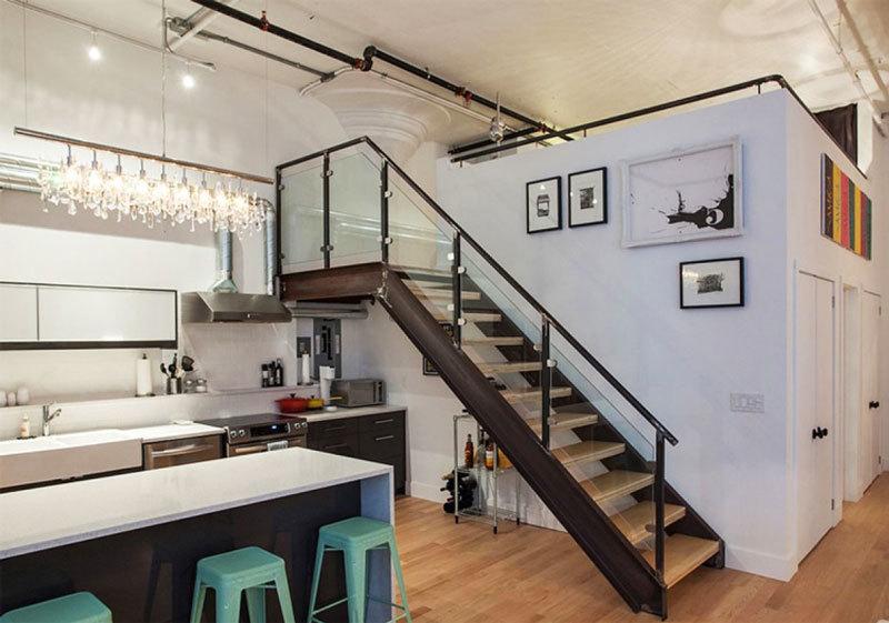 110平米后现代风格loft楼梯装修效果图赏析