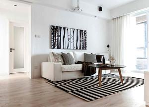 75平米北欧风格简约自然公寓装修效果图赏析