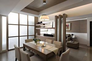 现代风格两居室室内餐厅隔断设计装修效果图