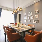 后现代风格大户型室内餐厅照片墙装修效果图