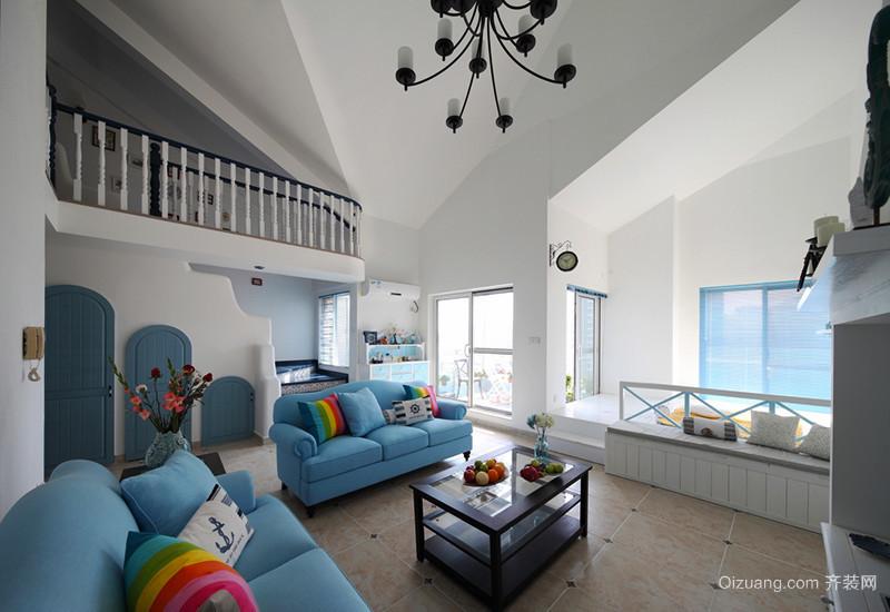 286平米简约地中海风格别墅室内装修效果图赏析