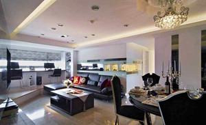 124平米欧式风格精装三室两厅室内装修效果图