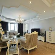 欧式风格大户型精致客厅吊顶装修效果图赏析