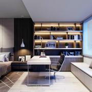 现代简约风格卧室书房装修效果图赏析