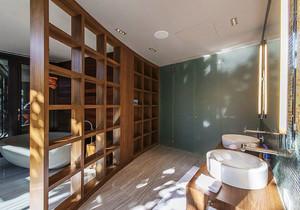 现代风格大户型室内大卫生间隔断设计装修效果图