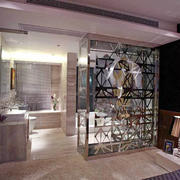 现代风格大户型室内主卧室卫生间装修效果图