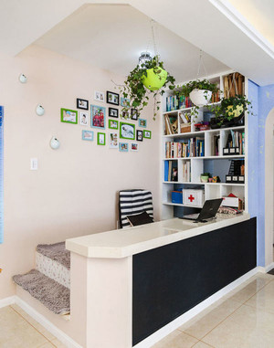 现代简约风格室内书房吧台装修效果图