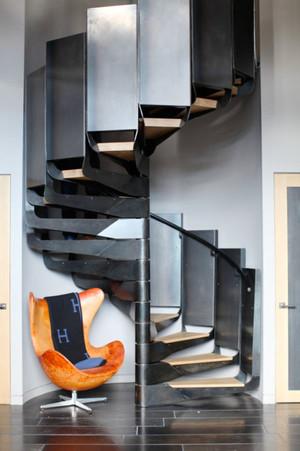 后现代风格精致旋转楼梯装修效果图赏析
