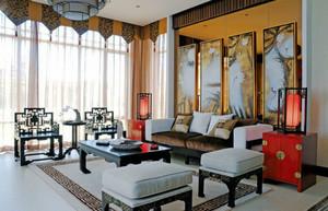 中式风格古典雅韵客厅装饰画装修效果图