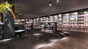 98平米现代风格冷色调书店装修效果图赏析