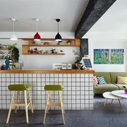北欧风格时尚简约客厅吧台装修效果图赏析