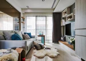 76平米北欧风格简约两室两厅室内装修效果图案例