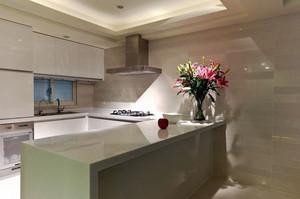 现代风格两居室开放式厨房吧台装修效果图