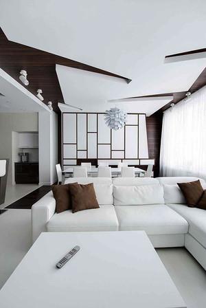100平米现代风格纯白公寓装修效果图赏析