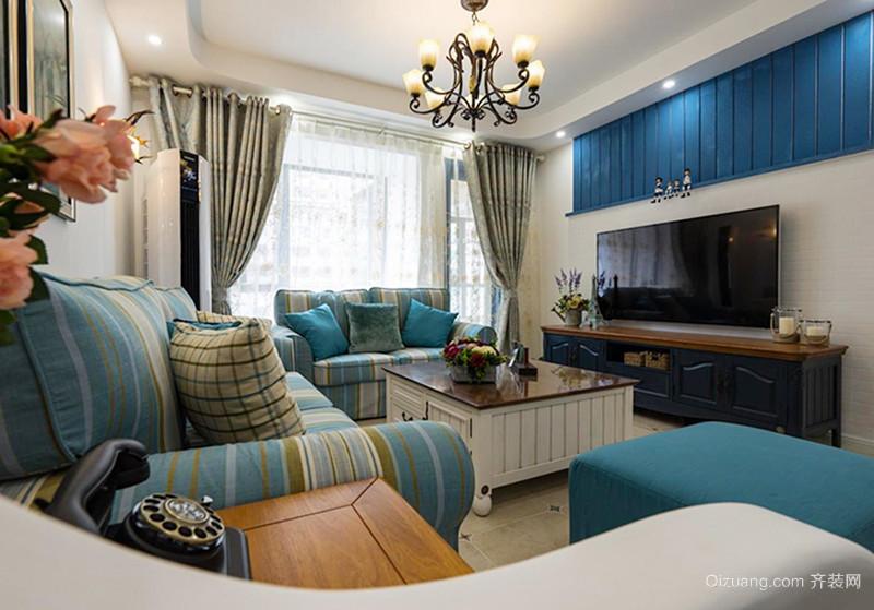 90平米简约地中海风格两居室室内装修效果图