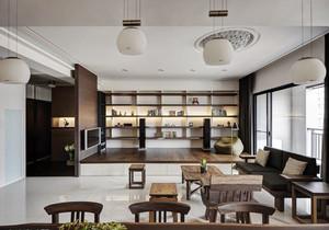 中式风格混搭榻榻米客厅装修效果图赏析