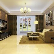 简欧风格大户型客厅电视背景墙装修效果图赏析
