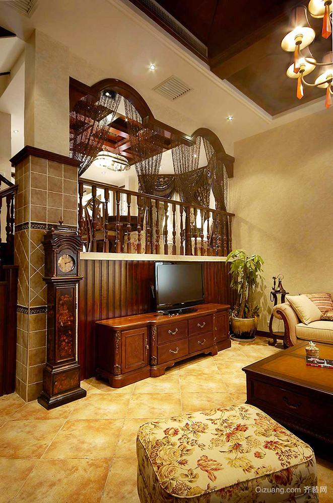 美式田园风格精致别墅室内装修效果图案例