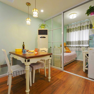 清新美式风格两居室型餐厅装修效果图