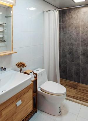 96平米日式风格简约三室两厅室内装修效果图