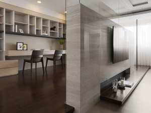 现代风格精致室内书房隔断墙装修效果图赏析