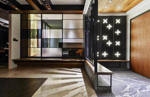 中式风格大户型室内玄关隔断设计装修效果图
