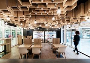 68平米宜家风格简约轻松咖啡厅装修效果图赏析