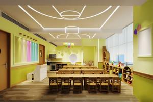 80平米现代简约风格幼儿园教室环境布置装修效果图