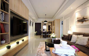 70平米后现代风格精致公寓装修效果图赏析