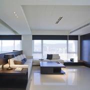 后现代风格大户型室内客厅装修效果图