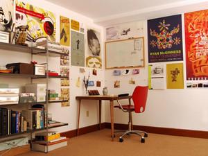 时尚混搭风格创意活力书房装修效果图鉴赏