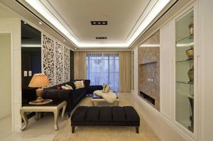 简欧风格三居室室内精致客厅装修效果图赏析