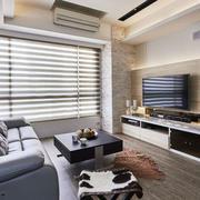 现代风格两居室室内客厅电视背景墙装修效果图