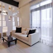 现代简约风格小户型客厅隔断设计装修效果图