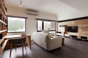 宜家风格简约客厅书房一体装修效果图赏析