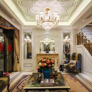 美式风格奢华别墅客厅吊顶装修效果图赏析