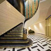 美式风格精致别墅楼梯装修效果图欣赏