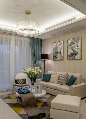 136平米文艺清新风格三室两厅室内装修效果图案例