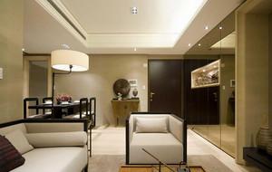 128平米简约中式风格三室两厅一卫装修效果图赏析
