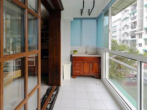 中式风格古韵精致阳台设计装修效果图