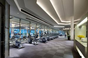 160平米后现代风格健身房装修效果图案例