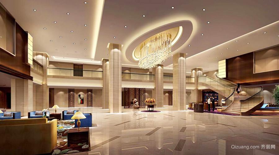400平米欧式风格酒店大堂设计装修效果图