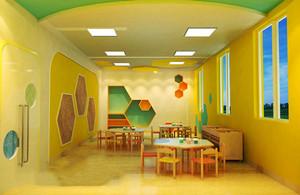 60平米现代简约风格幼儿园教室布置装修效果图案例