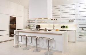 现代简约风格大户型纯白厨房装修效果图大全