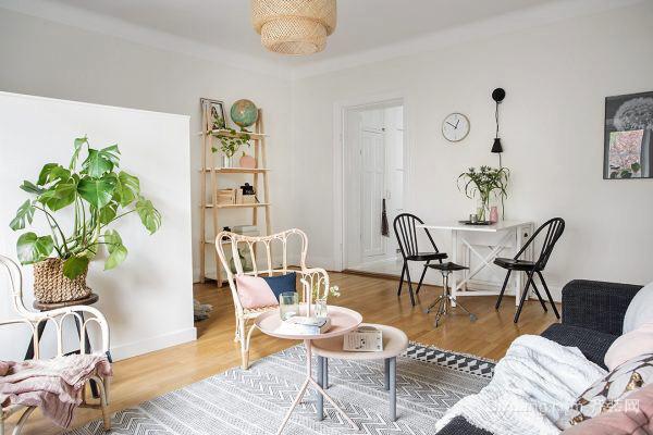 59平米北歐風格自然簡裝單身公寓裝修效果圖