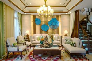 180平米东南亚风格精致复式楼装修效果图赏析