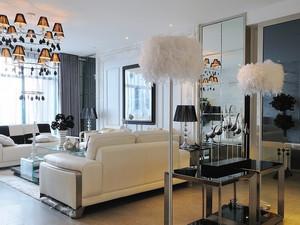 134平米简欧风格温馨三室两厅室内装修效果图赏析